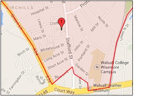 St Peter's Walsall Map